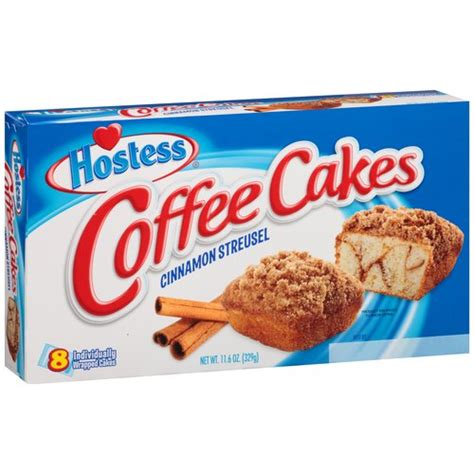 2000 calories a day is used for general nutrition advice, but calorie needs vary. Hostess Cinnamon Streusel Coffee Cakes, 8 ct, 11.6 oz ...