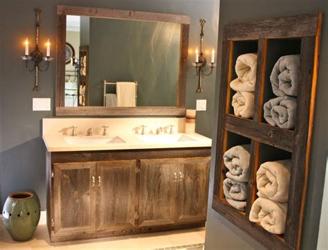 Small Rustic Bathroom Ideas On A Budget by Frame A Rustic Bathroom Mirrors With Molding Doherty House