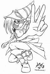 Magician Yu Gi Oh Dark Coloring Pages Drawings Drawing Deviantart Dragon Yugi Eyes Trakker Getcoloringpages sketch template