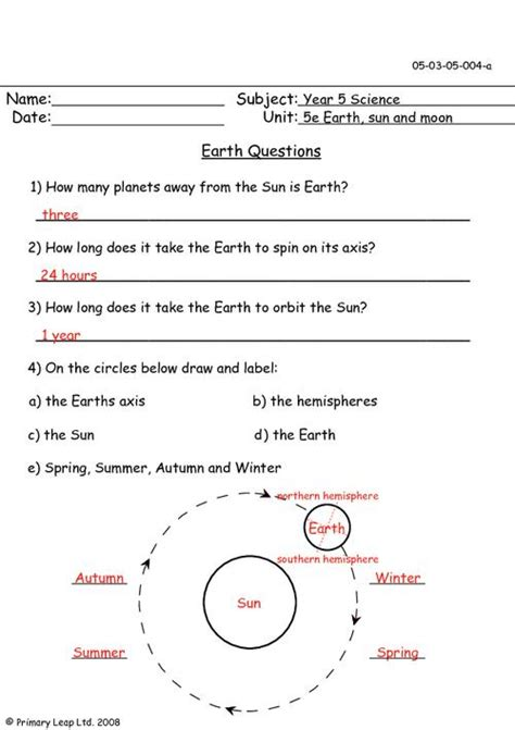 sun earth moon worksheets page 2 pics about space
