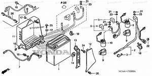 Honda Motorcycle 2008 Oem Parts Diagram For Battery