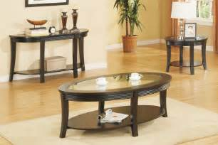 Vanity Set Espresso by Oval Coffee Table Set Matching Console And End Tables