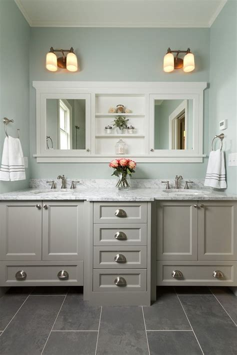 Master Bathroom With Double Vanity, Marble Countertop