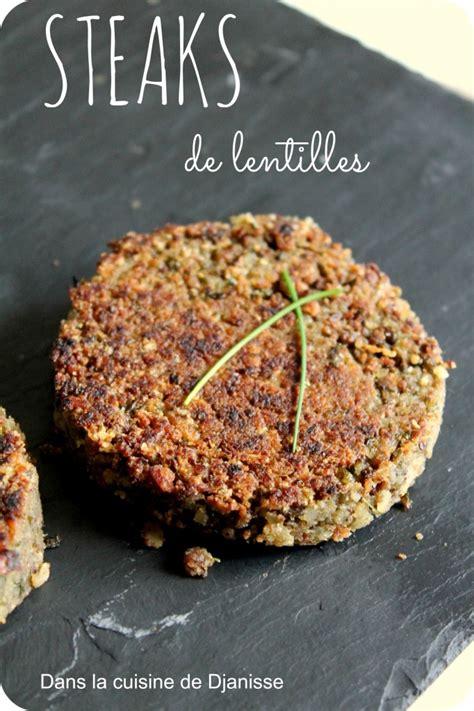 ma cuisine vegetalienne steaks de lentilles pour burger sans gluten vegan