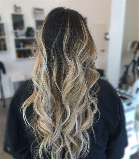 dark brown  blonde balayage ombre hair