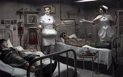 Creepy Horror Scary Fantasy Drawings Hospital Nurse