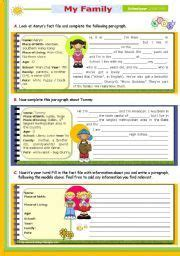 english worksheet writing series 21 my routine on a