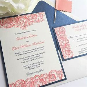 affordable thermography wedding invitations navy and With inexpensive thermography wedding invitations