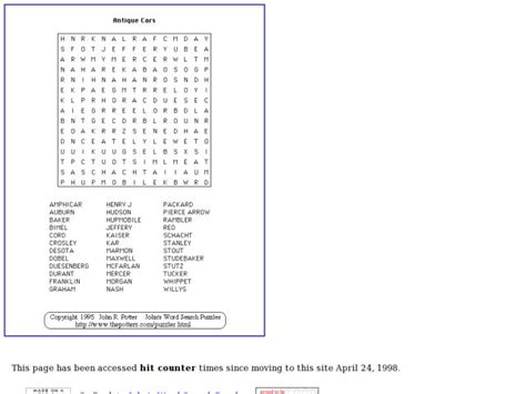 Antique Cars Word Search Puzzle Worksheet For 5th