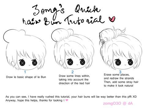 Hair Bun Tutorial by zomgO3O on DeviantArt