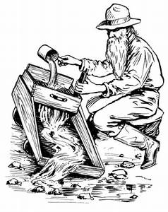 Gold Rush Clip Art | Free Printable Western Coloring Pages ...