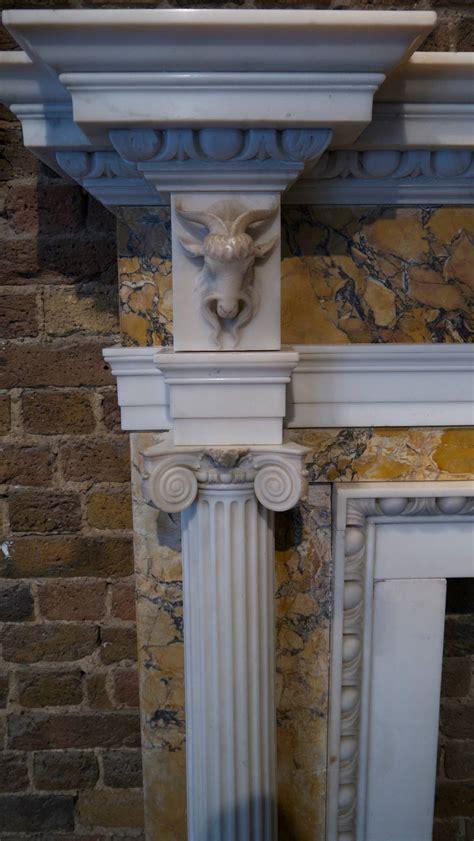 Original George Iii White Statuary And Siena Marble