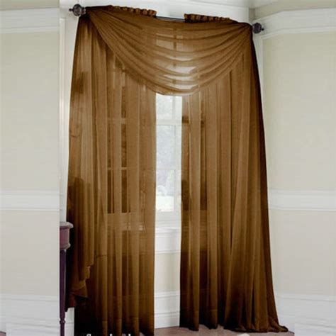 scarf sheer voile door window curtains drape panel - Scarf Drapes