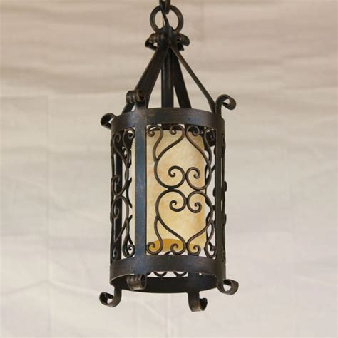 6230 1 Spanish Revival wrought Iron Mini pendant