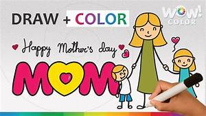 Mothers Day: Mother Day Drawing Ideas for Kids - Mother's ...