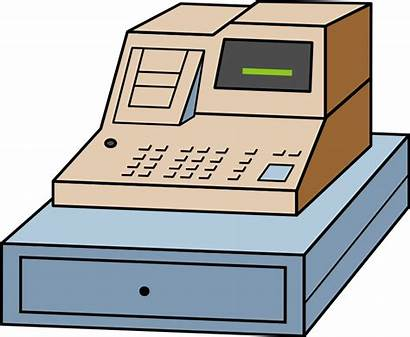Register Cashier Cash Clipart Money Till Clip
