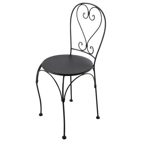 chaises en fer forgé chaise de jardin en fer forgé brun foncé st germain