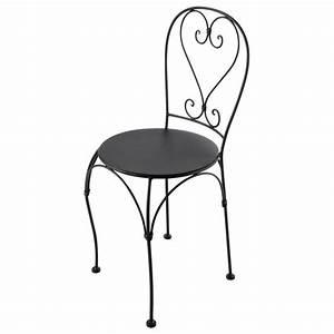 Chaise Fer Forgé : chaise de jardin en fer maison design ~ Teatrodelosmanantiales.com Idées de Décoration