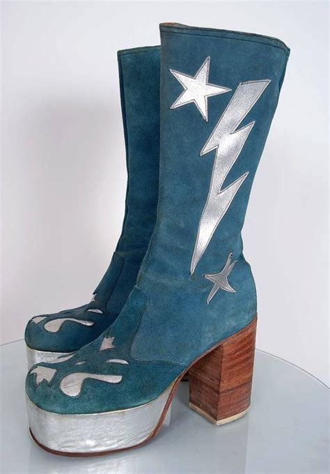 turquoise blue suede  silver leather novelty