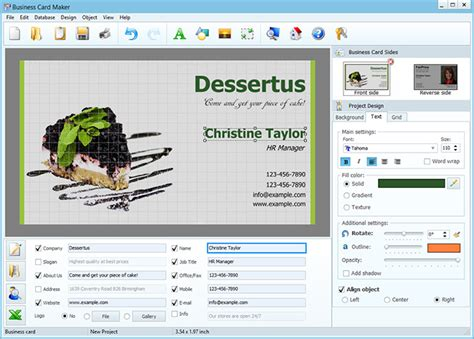 business card  simple steps