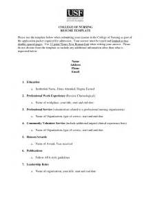 college entrance resume template college resume exle