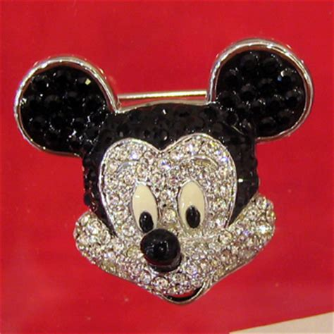 disney swarovski pin mickey mouse