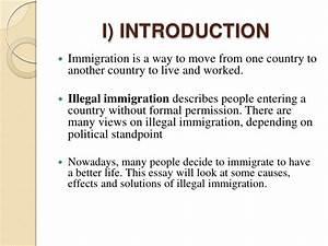 illegal immigration essay topics