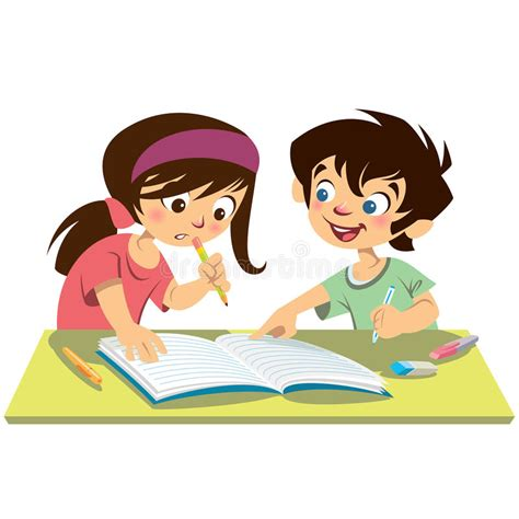 children reading together clipart boy and students studying doing their homework