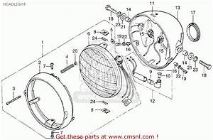 Honda Cb200t 1975 Usa Headlight