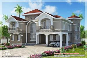 4 Bedroom double floor Indian luxury home design