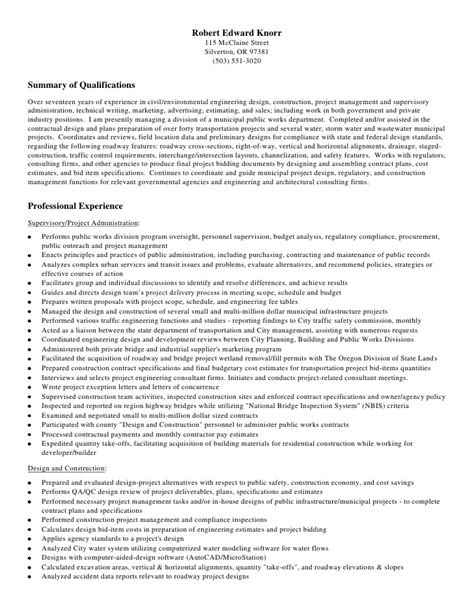 civil engineer resume cv schablonen