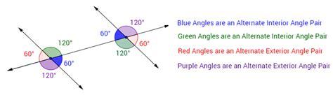 alternate interior angles alternate interior exterior angles solutions exles