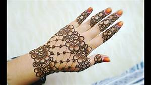 Easy Stylish Floral And Lines Mehndi Design  Henna Design