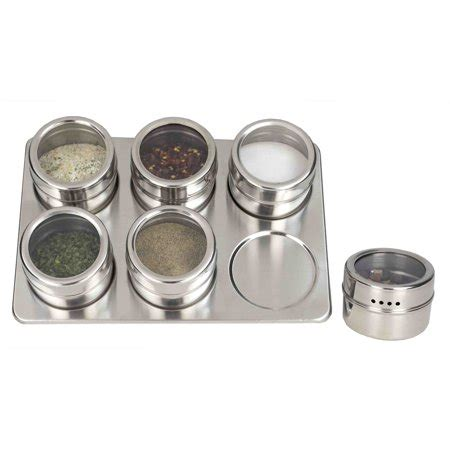 Spice Sets With Racks by Home Basics Steel Magnetic Spice Rack Set 6 Pieces