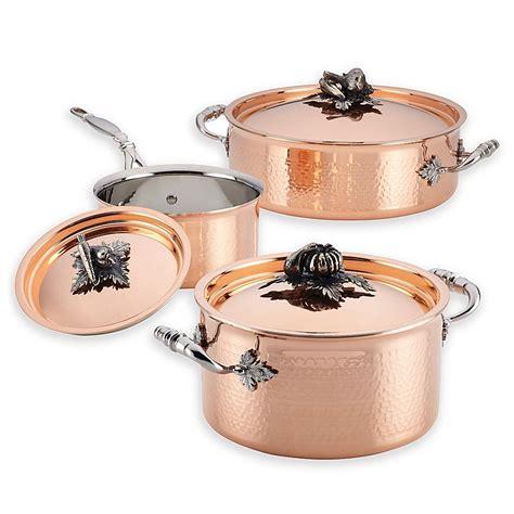 ruffoni opus cupra  piece copper cookware set   copper cookware set cookware set copper