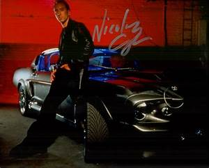 Gone In 60 Seconds - Mustang GT500 Shelby ELEANOR - Nicolas Cage Autographed