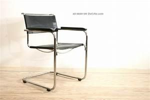 Thonet Freischwinger Leder : 4x thonet s 34 33 freischwinger leder design mart stam stahlrohr stuhl ~ Orissabook.com Haus und Dekorationen