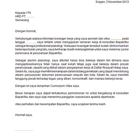 Contoh Surat Kronologi by Contoh Surat Lamaran Yang Meyakinkan Untuk Mahasiswa Fresh