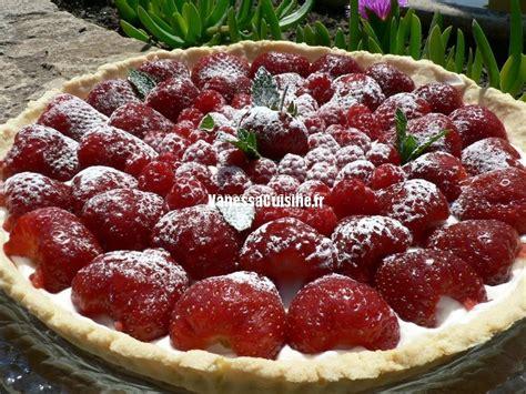 cuisine kenwood tarte fraise framboise crème vanillée au mascarpone