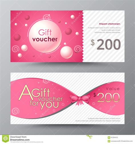 gift voucher template promotion card coupon design
