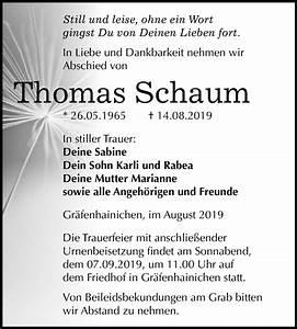 Super Sonntag Wittenberg : traueranzeigen von thomas schaum ~ Watch28wear.com Haus und Dekorationen