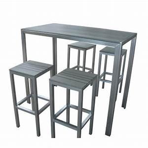 Table De Cuisine Haute : table haute tabouret cuisine design en image ~ Dailycaller-alerts.com Idées de Décoration