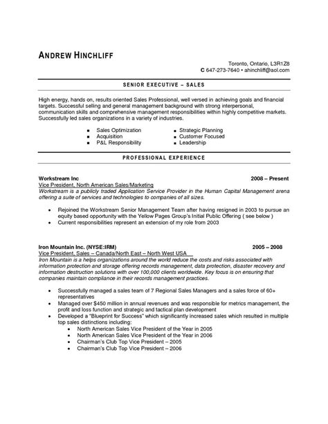 Accounting Resume Sles Canada by Sle Resume For In Canada Mbm