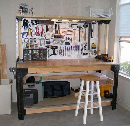 build garage workbench plans diy   wood