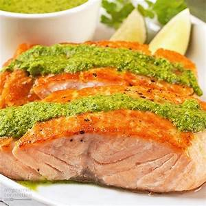 Grilled Salmon Fillets with Pesto - Magic Skillet