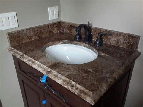 marble vanity tops emperador marble vanity top chicago instalation ldk