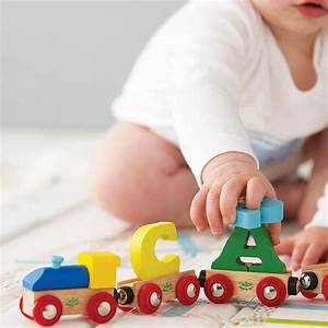 personalised wooden letter train by thelittleboysroom With letter toys for toddlers