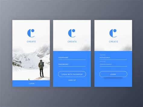 mobile ui login form design     properly