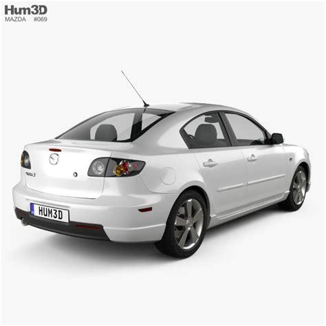 Mazda Sedan Models by Mazda 3 Sedan S 2005 3d Model Hum3d