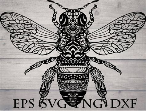It may be used in web design, printed media, advertising, book covers and pages, music artwork, software applications and much more. Mandala bee svg / zentangle bee svg / insect mandala svg
